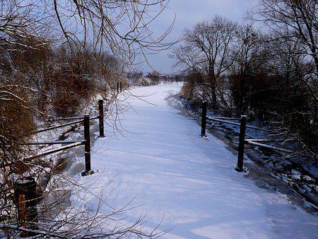 Lühe, Ice, Old Country, Winterstimmung, Romance, Nature