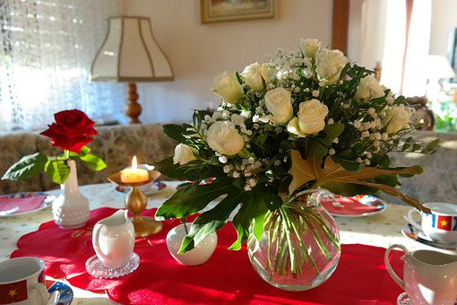 Bouquet, Flowers, Bouquet Of Roses, Roses, White Roses