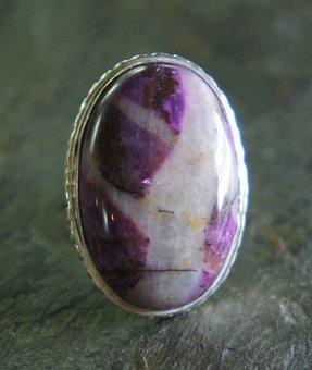 Ruby Zoisite, Oval, Silver, Metal, Jewelry, Jewel