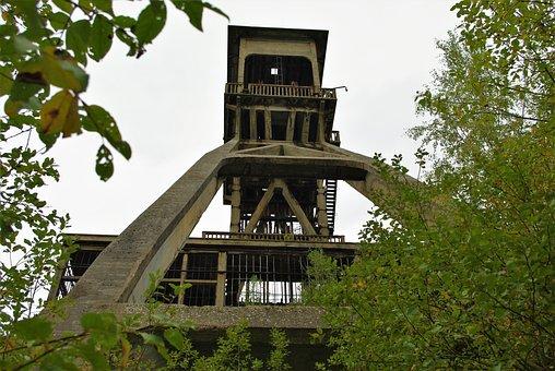 Mine, Carbon, Bill, Industry, Ruhr Area, Headframe