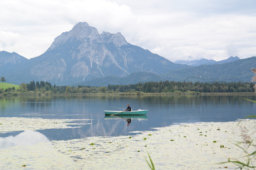 Rower, Lake, Mountains, Allgäu, Säuling