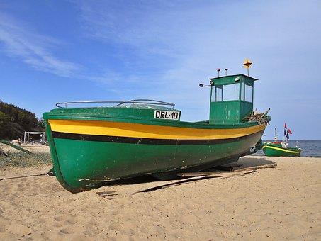 Cutter, Boat, The Barge, Sea, The Baltic Sea, The Coast