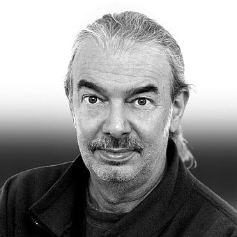 Man, Senior, Black And White, Male, Older, Portrait