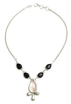 Ankh, Rose Quartz, Necklace, Stone, Sterling, Silver
