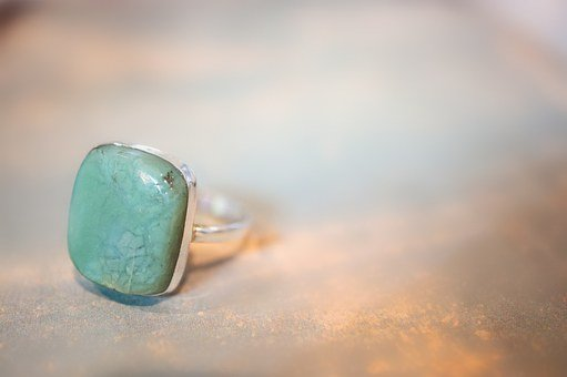 Chrysoprase, Ring, Stone, Sterling, Silver, Jewelry