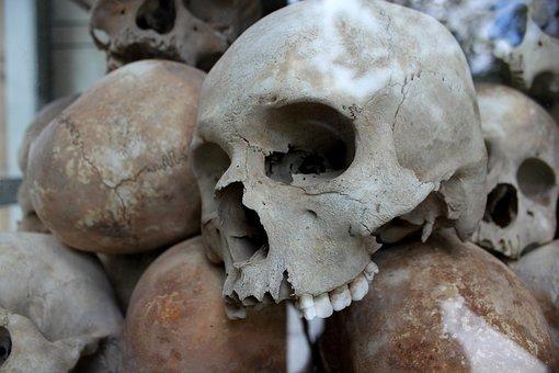 Skulls, Genocide, Murder, Death, Human, Cambodia