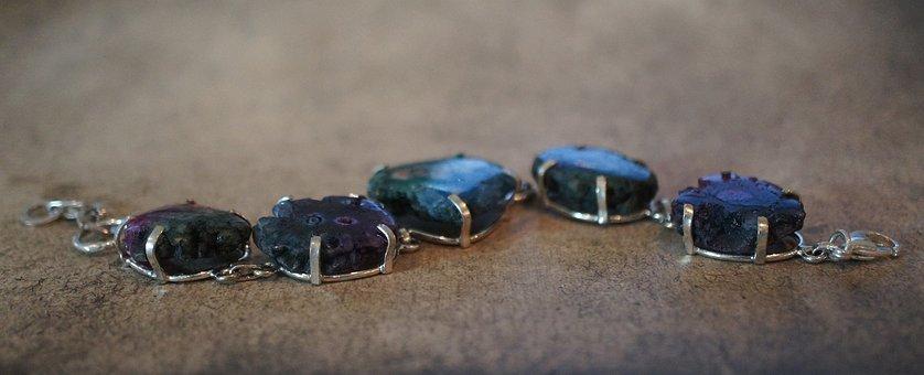 Solar Quartz Geode, Stone, Bracelet, Gem, Gemstone