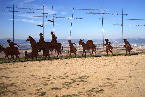 The Pilgrim, Spain, Camino De Santiago De Compostela