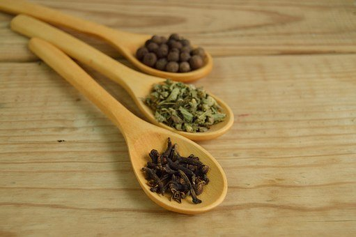 Spice, Spoon, Wood, Approach, Detail, Table, Pepper