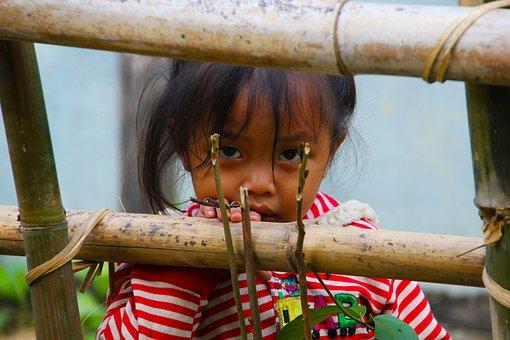 Laos, Girl Child, Staring, Girl, Child, Asia, Face, Kid