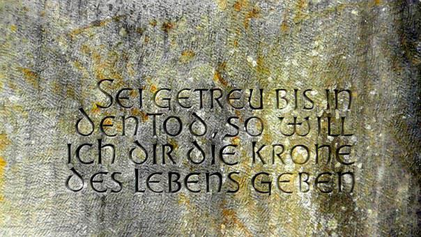 Bible Verse, Bible, Stone Tablet, Inscription