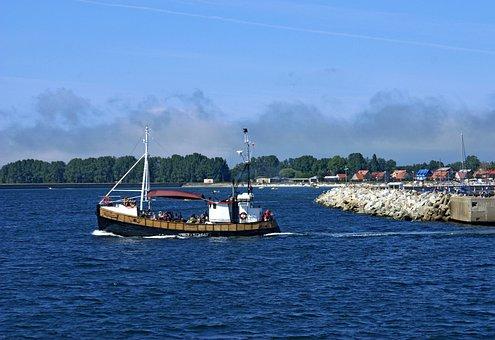 Boat, Cutter, Drain, Port, The Baltic Sea, The Coast