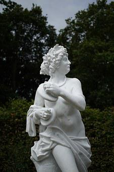 Statue, Marble, Sculpture, White, Woman, Dance, Music