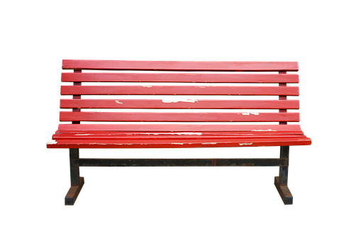 Isolated, Transparent, Bench, Wooden, Wood, Red, Seat