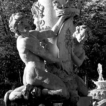Sculpture, Black And White, Spain, Statue, Work Of Art