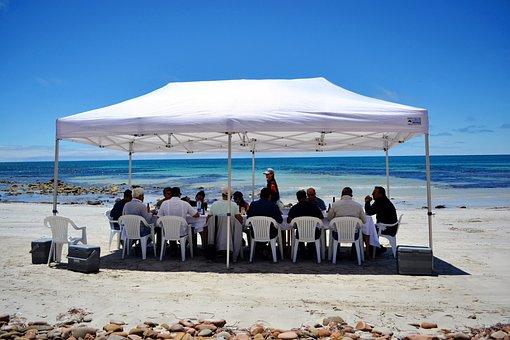 Chair, Beach, Sea, Umbrella