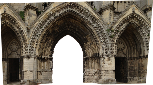 Portal, Gothic, Architecture, Church, Building