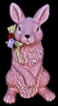 Hare, Figure, Ceramic, Easter Bunny, Rabbit Ears
