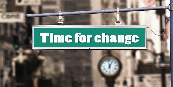 Change, New Beginning, Risk, Road, Clock, Street Sign