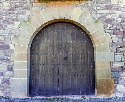 Door, Church, Temple, Architecture, Wall, Building
