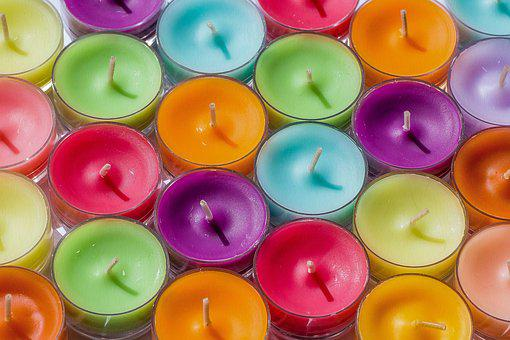 Tea Lights, Color, Candle, Bright, Colorful