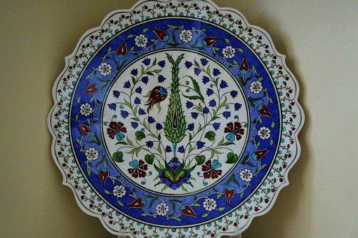 Cypress, Handmade, Art, Ceramic, Motif, Tile
