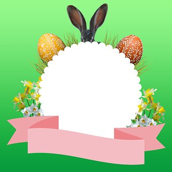 Easter, Graphic, Spring, Easter Bunny, Easter Eggs