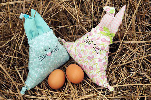 Easter, Easter Bunny, Stuffed Animals, Pillow