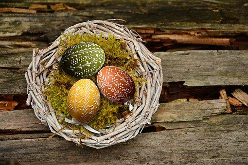 Easter Eggs, Easter Nest, Easter, Nest, Egg