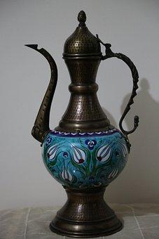 Ewers, The Art Of Hand, Tulips, Vase, Art