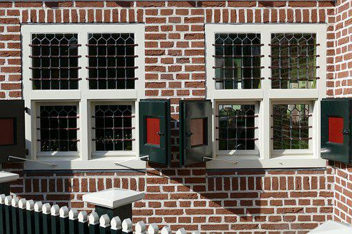 Window, Stained Glass, Liège, Brick, Facade