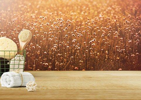 Background Image, Flowers, Towel, Basket, Flower Meadow