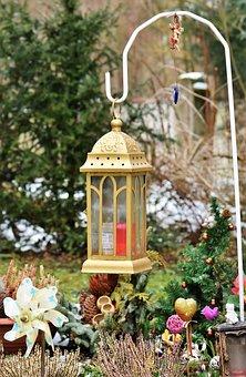 Lantern, Grave Light, Lamp, Candlestick, Wrought Iron
