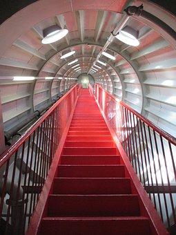 Step, Indoors, Architecture, Inside, Handrail, Atomium