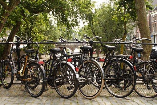Wheel, Bike, Utrecht, Netherlands, Holland, Canal