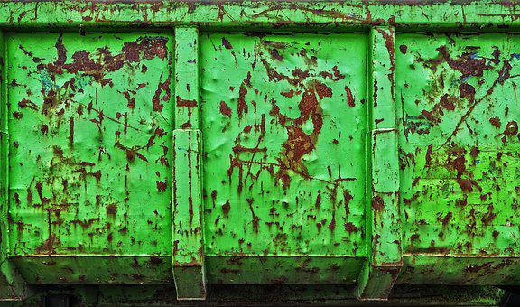 Mulden, Old, Rusty, Iron, Dirty, Dump Truck, Corrosion