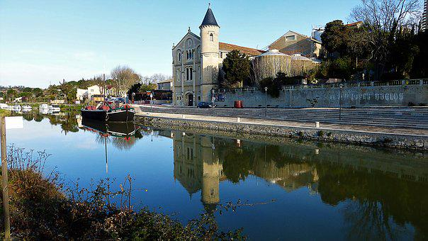 Nature, France, Aude, Channel, Body Of Water
