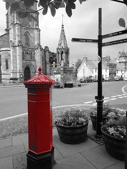 Pillar Box, Signpost, Street Sign