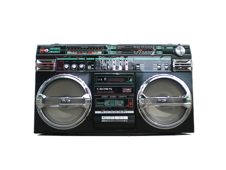 Boombox, Ghetto-blaster, Stereo, Retro, Radio, Speaker