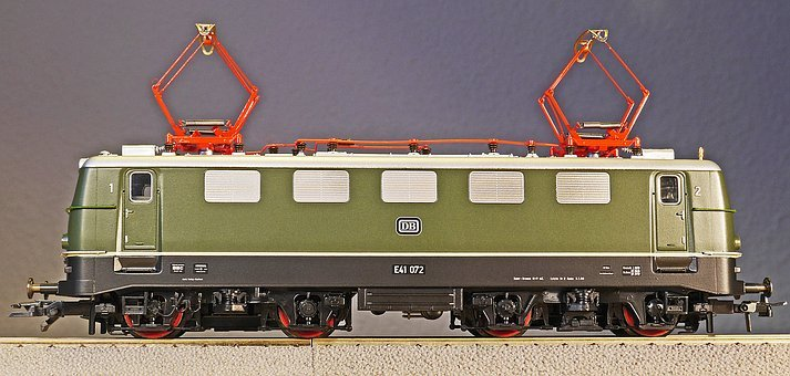 Electric Locomotive, Model, Scale H0, Toys