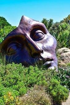 Sculpture, Nature, Art, Face, South Africa