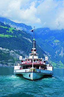 Steamboat, Ship, Lake Lucerne Region, Sidewheelers