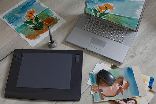 Graphics Tablet, Digital Drawing, Computer, Technology