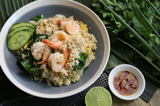 Thai Fried Rice, Prawn Fried Rice, Thai Food