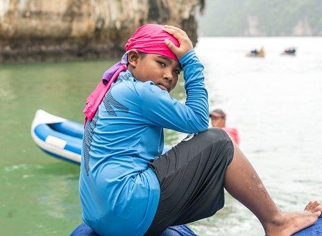 Thailand, Boy, James Bond Island, Tour, Water, Outdoors