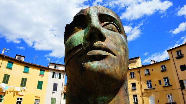 Architecture, Travel, The Statue, Sculpture, Old, Lucca