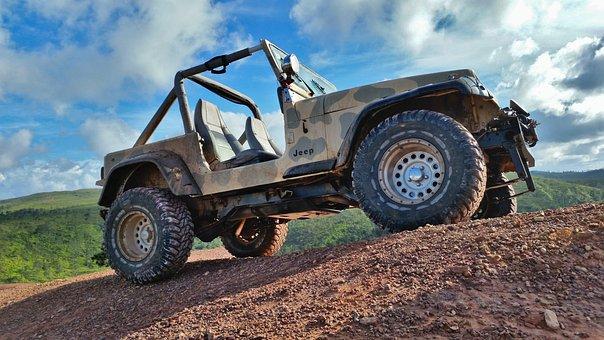 Jeep, Wrangler, Mountain, Mud, Play, Machine, Vehicle