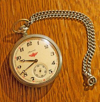 Pocket Watch, Vintage, Retro, Russian, Pocketwatch
