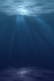 Sea, Ocean, Water, Sunlight, Waves, Dark, Storm, Blue
