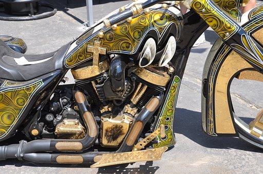 Harley Davidson, Bike, Custom Bike, Airbrush